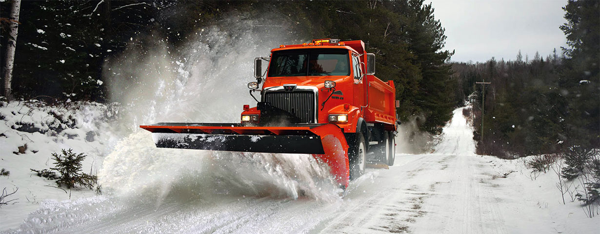 Western Star truck with snow blade